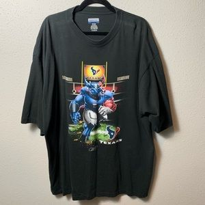 REEBOK Men's 2XL Black Texans Tee